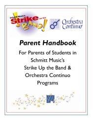 Parent Handbook - Schmitt Music