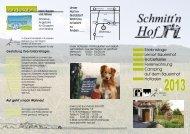 Infoflyer 2013 zum Download - Schmitt´n Hof