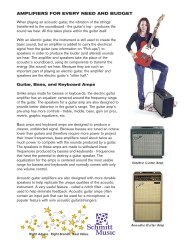 AMPLIFIERS FOR EVERY NEED AND BUDGET - Schmitt Music