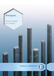 Strangguss Fonte coulée en continu - SCHMOLZ-BICKENBACH.CH