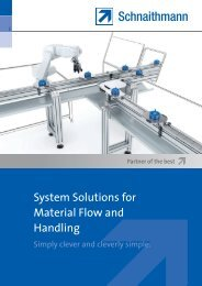 System Solutions for Material Flow and Handling - Schnaithmann