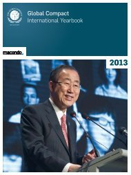 UN Global Compact International Yearbook 2013