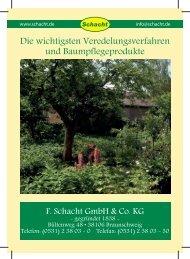Veredelungsleitfaden - F. Schacht GmbH & Co. KG