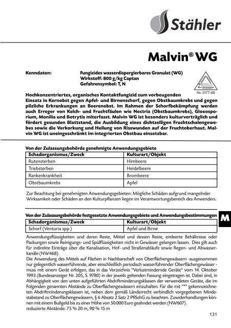 Malvin® WG - Schneckenprofi
