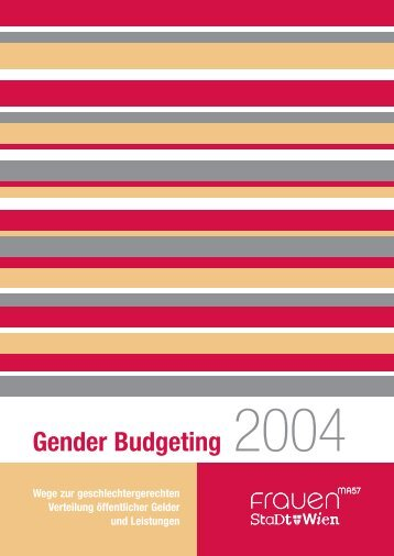 Gender Budgeting 2004