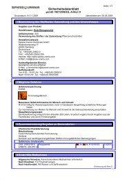 Sicherheitsdatenblatt - Schneckenprofi