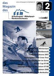 SM Magazin Januar 2008 - Regionalverband Schneesport Mittelland