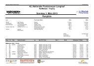 Rangliste - Regionalverband Schneesport Mittelland