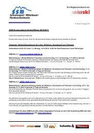 Ein Regionalverband von SSM-Kursangebote Herbst/Winter 2010 ...