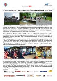 Abschlussbericht TGM BOSV/SSM U16 nordisch Saison 2011/2012