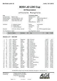 LEKI JO-CUP Punkterennen Nr. 3 - Regionalverband Schneesport ...
