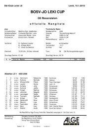 LEKI JO-CUP Punkterennen Nr. 4 - Regionalverband Schneesport ...