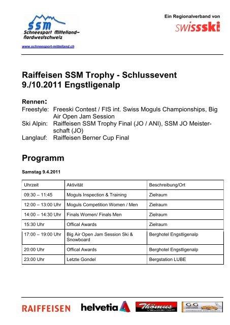 Programm - Regionalverband Schneesport Mittelland