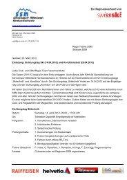 Ein Regionalverband von - Regionalverband Schneesport Mittelland