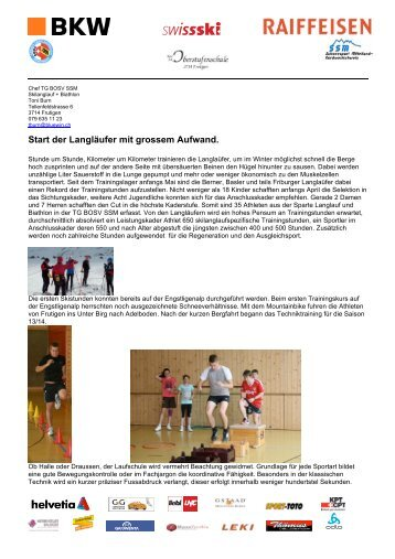 Kursbericht Saisonstart - beim Schneesport Mittelland ...