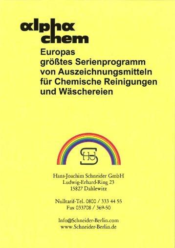 Als PDF herunterladen - Hans-Joachim Schneider GmbH
