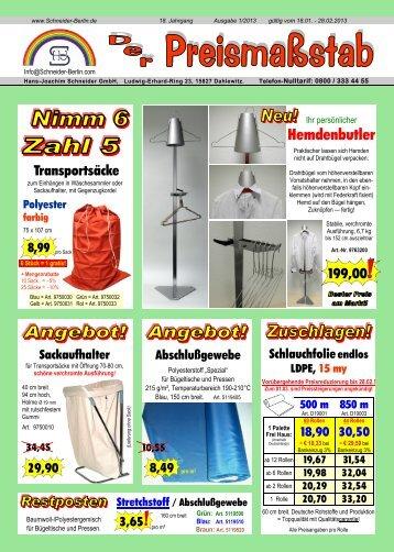 E-Ausgabe 2013 01L - Hans-Joachim Schneider GmbH