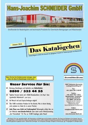 Katalögchen 1er Inland 2013 07 - Hans-Joachim Schneider GmbH