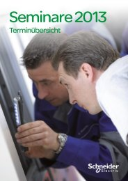 Seminarübersicht 2013 - Schneider Electric