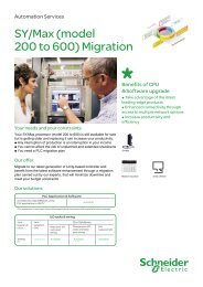 SY/Max (model 200 to 600) Migration - Schneider Electric