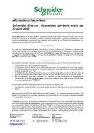 Informations financières Schneider Electric : Assemblée générale ...