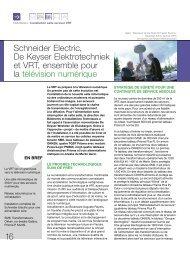 Schneider Electric, De Keyser Elektrotechniek et VRT, ensemble ...