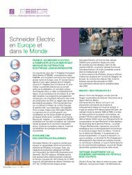Schneider Electric en Europe et dans le Monde 4