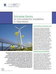 Schneider Electric en fotovoltaïsche installatie in Vlaanderen