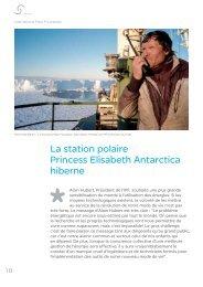 La station polaire Princess Elisabeth Antarctica hiberne