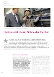 Hydrometal choisit Schneider Electric