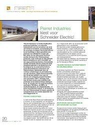 Pierret Industries kiest voor Schneider Electric! 20