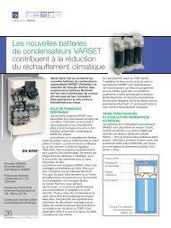 Les nouvelles batteries de condensateurs VARSET contribuent à la ...