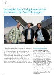 Schneider Electric équipe le centre de données de Colt à Nossegem