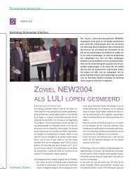 Zowel NEW2004 als LULI lopen gesmeerd