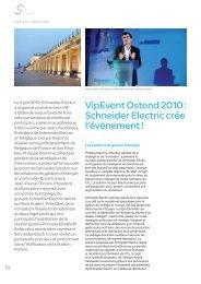 VipEvent Ostend 2010 : Schneider Electric crée l'évènement !
