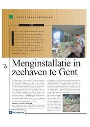 Menginstallatie in zeehaven te Gent