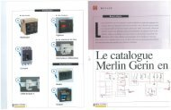 Le catalogue Merlin Gerin en 5 fonctions