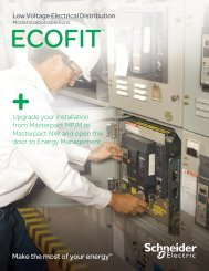 Low Voltage Electrical Distribution Moderization ... - Schneider Electric