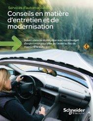 service sur l'entretien et la modernisation ... - Schneider Electric
