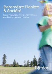 Le guide du Baromètre Planète & Société (.pdf) - Schneider Electric