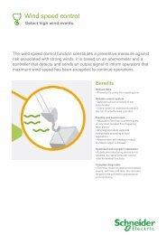 Wind speed control - Schneider Electric