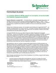 d\'info - Schneider Electric