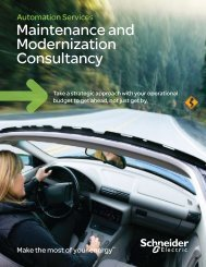 Maintenance and Modernization Consultancy - Schneider Electric