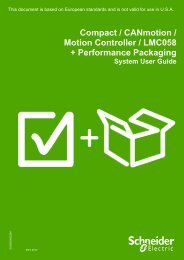 Compact / CANmotion /Motion Controller ... - Schneider Electric