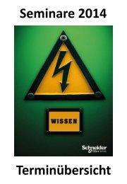 Trainingskalender 2014 (PDF - 117 kB) - Schneider Electric