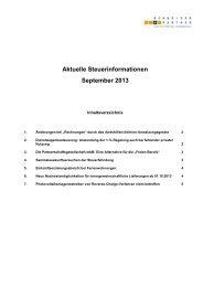 September 2013 (PDF) - Schneider + Partner GmbH