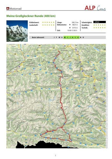 Motorrad Meine Großglockner Runde (400 km) - Schneizlreuth