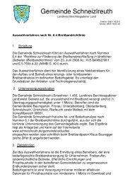 Auswahlverfahren Breitbandrichtlinie - Schneizlreuth