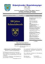 Schneizlreuther Gemeindeanzeiger