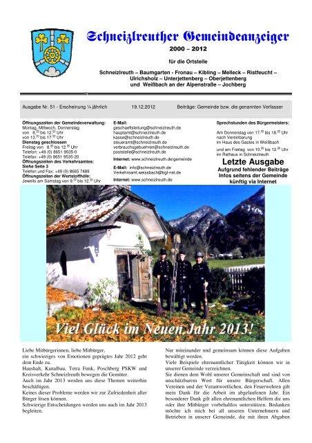 Gemeindeanzeiger 4-12 letzte Ausgabe - Schneizlreuth